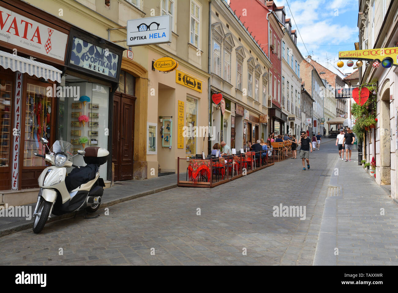 Zagreb Croatia July 15 2017 Radiceva Street View In Old Town Of Zagreb Croatia Stock Photo Alamy