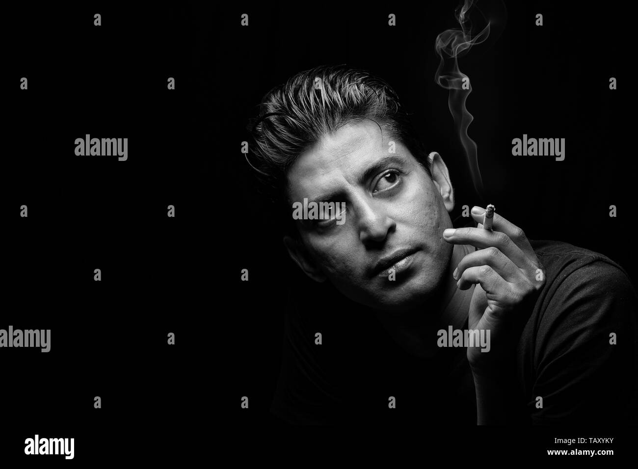 The man with cigar - Stock Image