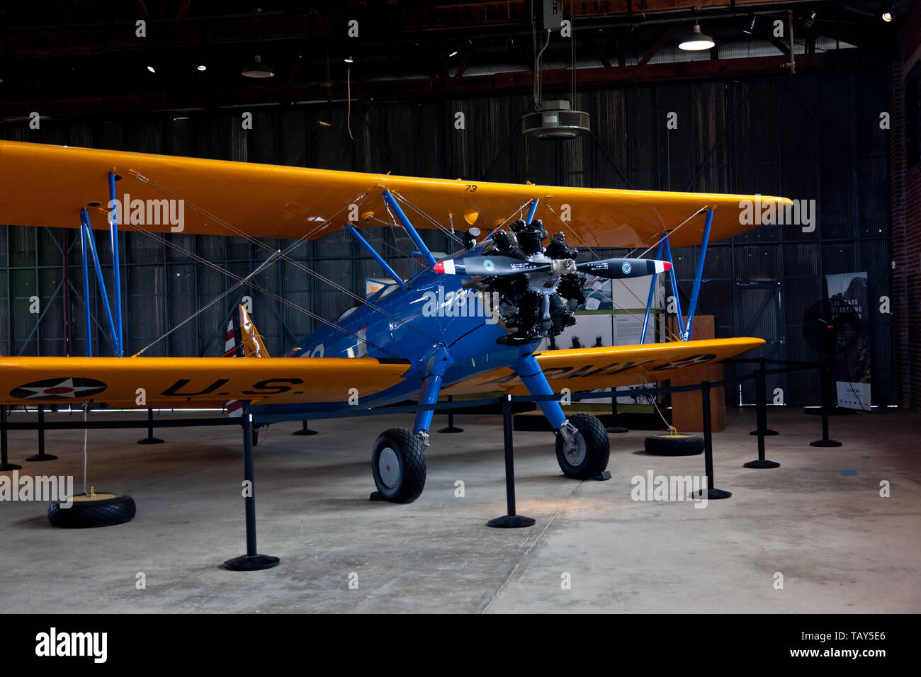 Airplane in the hanger at the Tuskeegee Airmen NHS - Stock Image