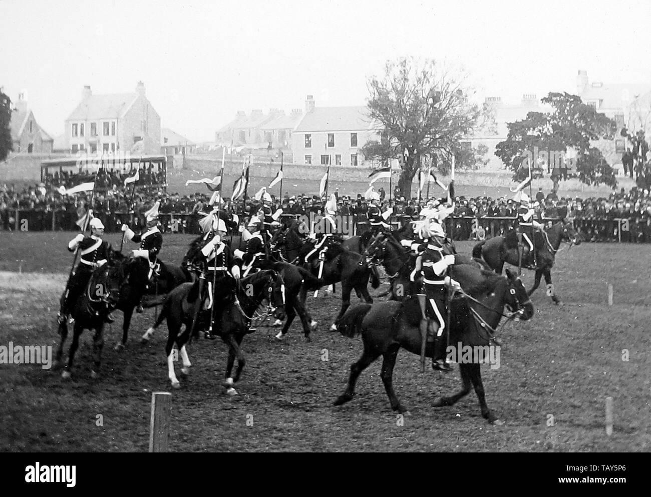 Musical Ride, British Army Cavalry Regiment - Stock Image