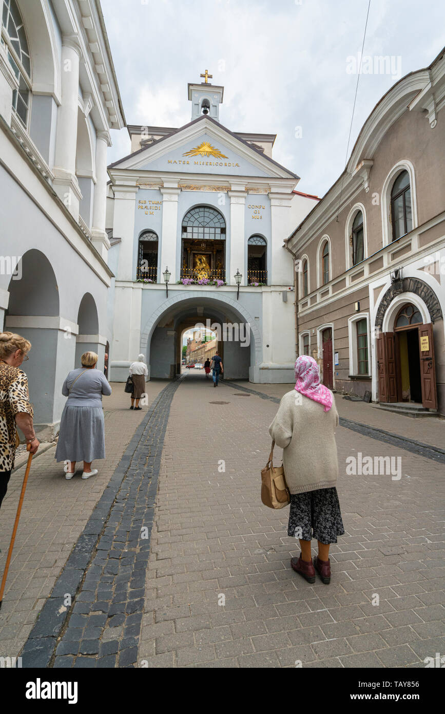 Vilnius, Lithuania. May 2019.  A view of the Gate of the Aurora - Stock Image