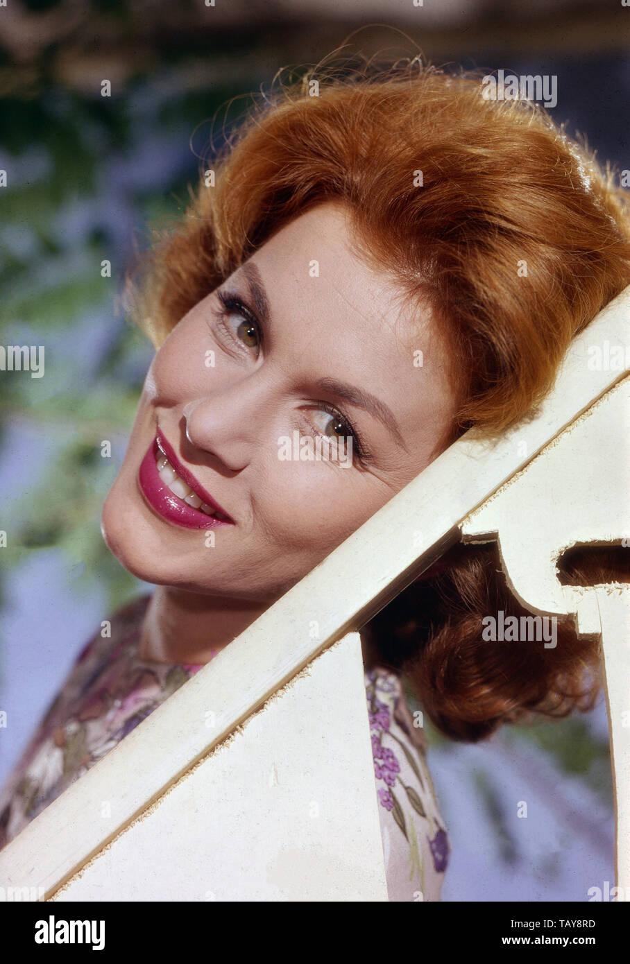 Linda Christian, mexikanisch-amerikanische Schauspielerin, Deutschland 1950er Jahre. Mexican American actress Linda Christian, Germany 1950s. - Stock Image