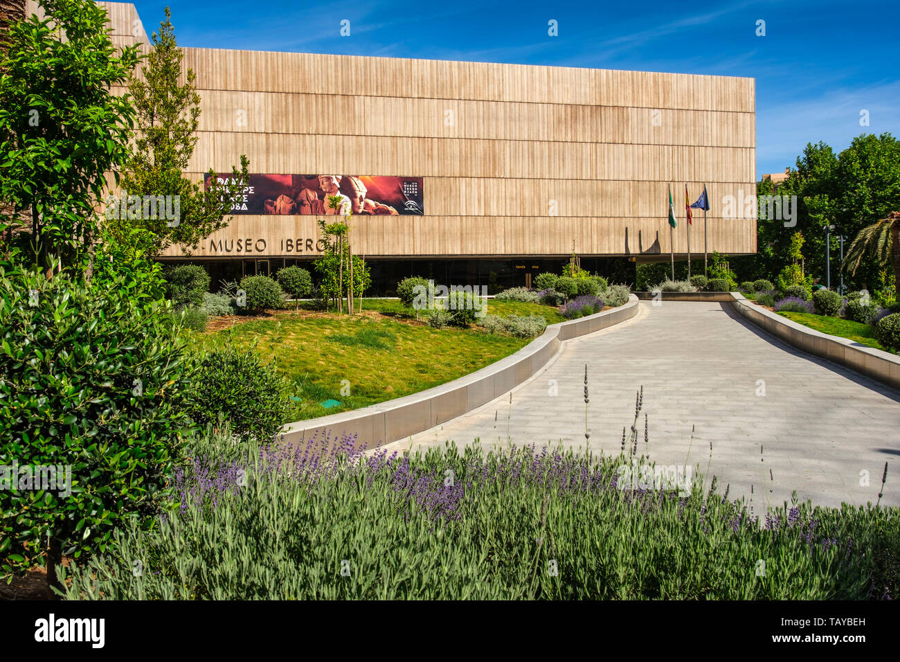 Exterior view The Iberian Museum. Jaén, southern Andalusia. Spain Europe - Stock Image