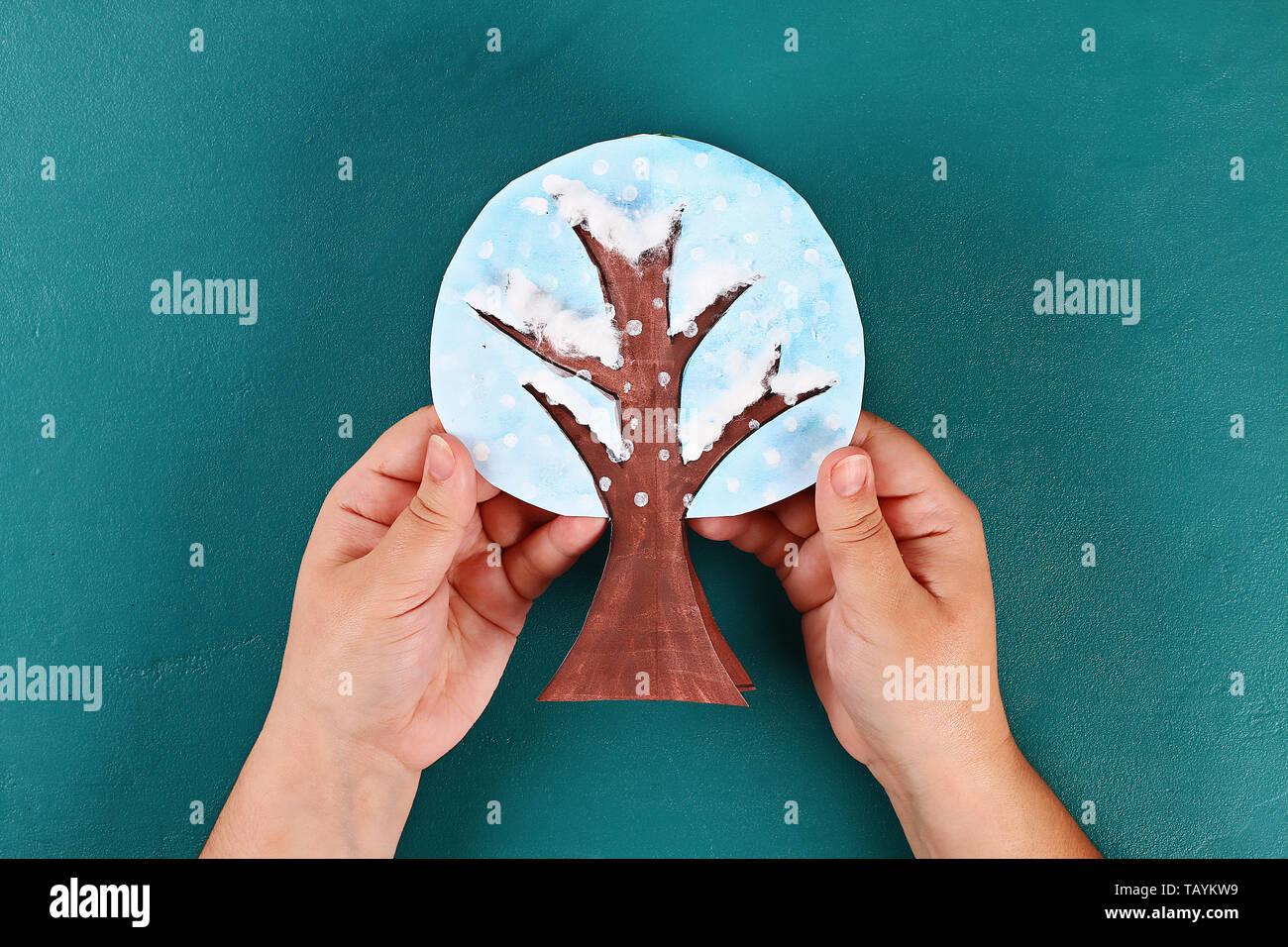 20 Diy paper tree four seasons summer, autumn, winter, spring ...