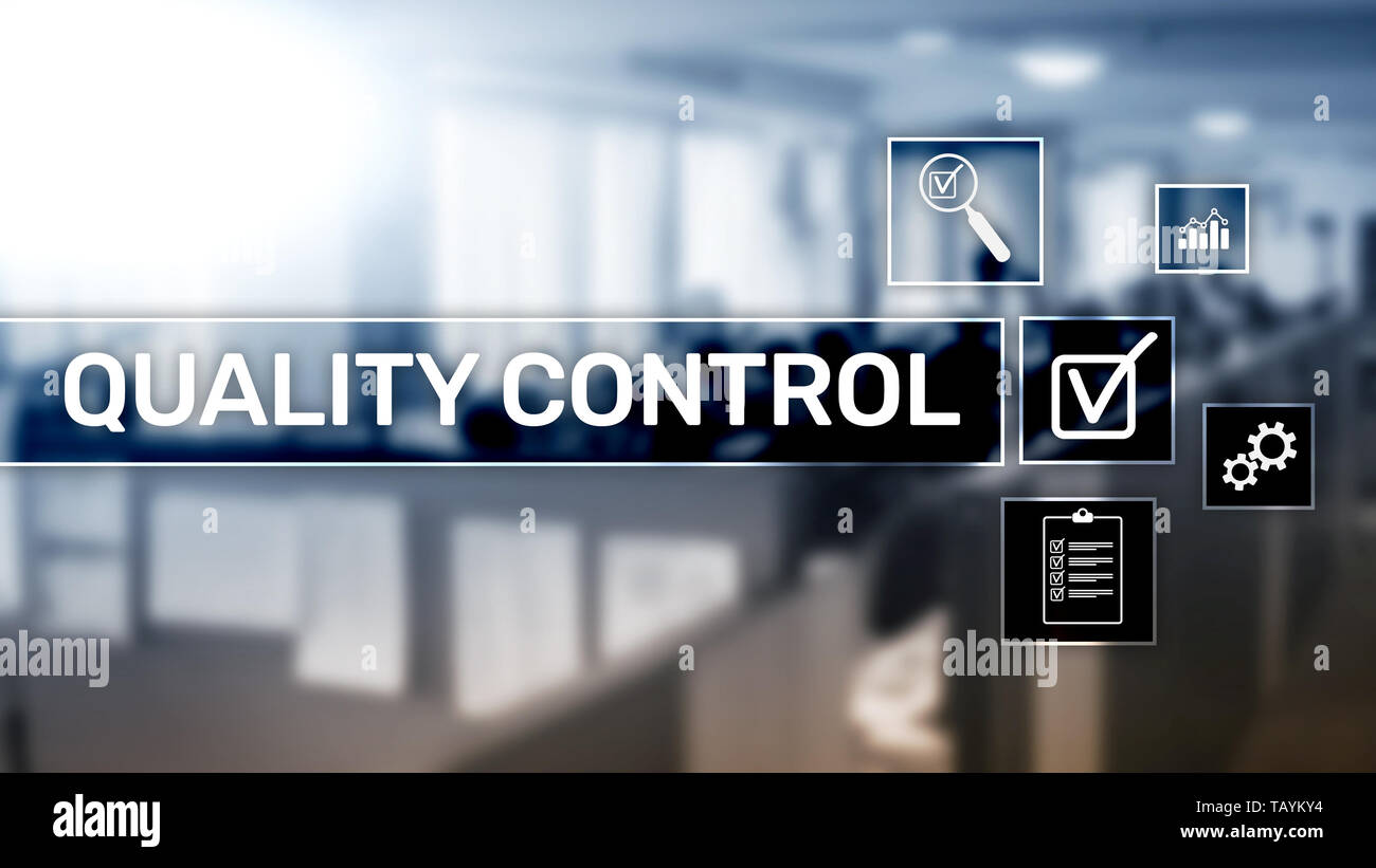 Quality control and assurance. Standardisation. Guarantee. Standards. Business and technology concept. - Stock Image