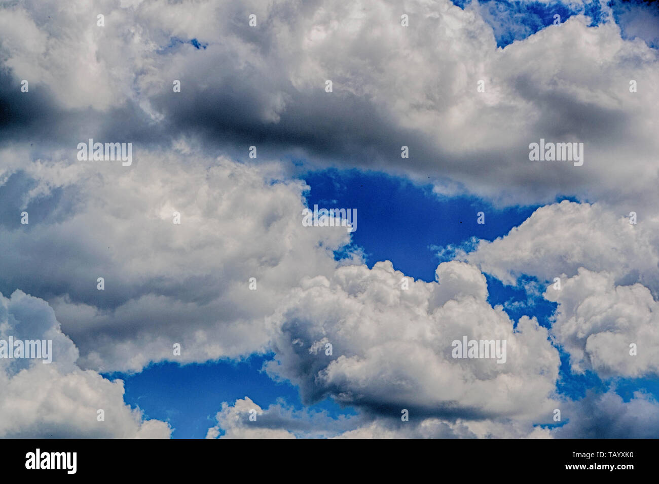 Sky and clouds natural banner - Stock Image