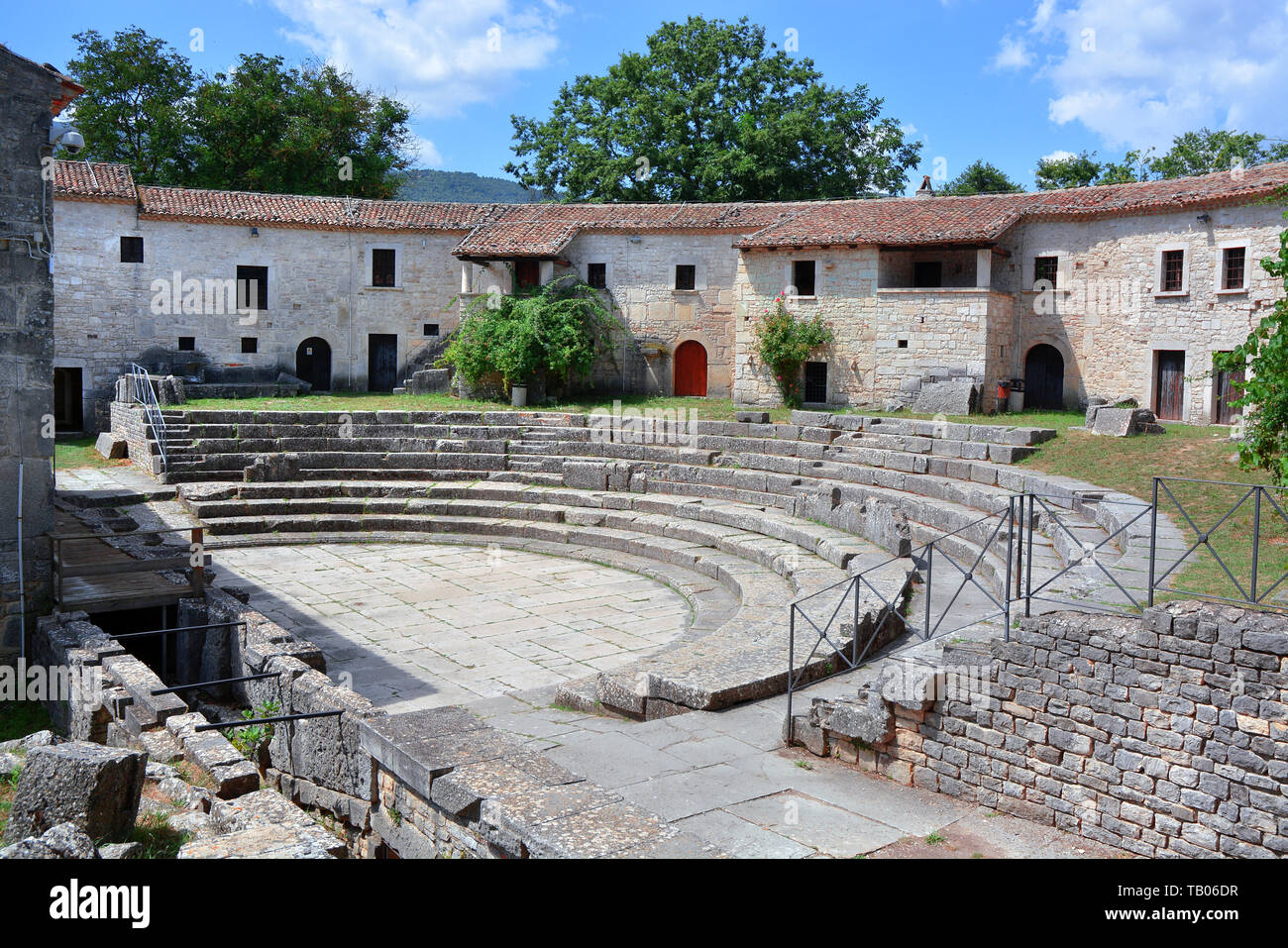 Sepino, Molise, Italy. Altilia the archaeological site located in Sepino, in the province of Campobasso. The name Altilia indicates the Roman city. - Stock Image