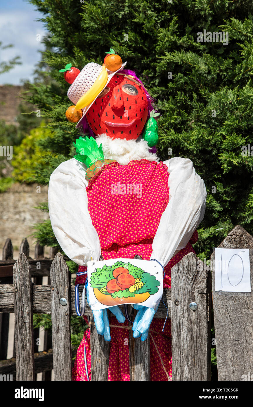 Lacock village Annual Fundraising event - Scarecrow Trail 2019, Lacock, Wiltshire, UK Stock Photo