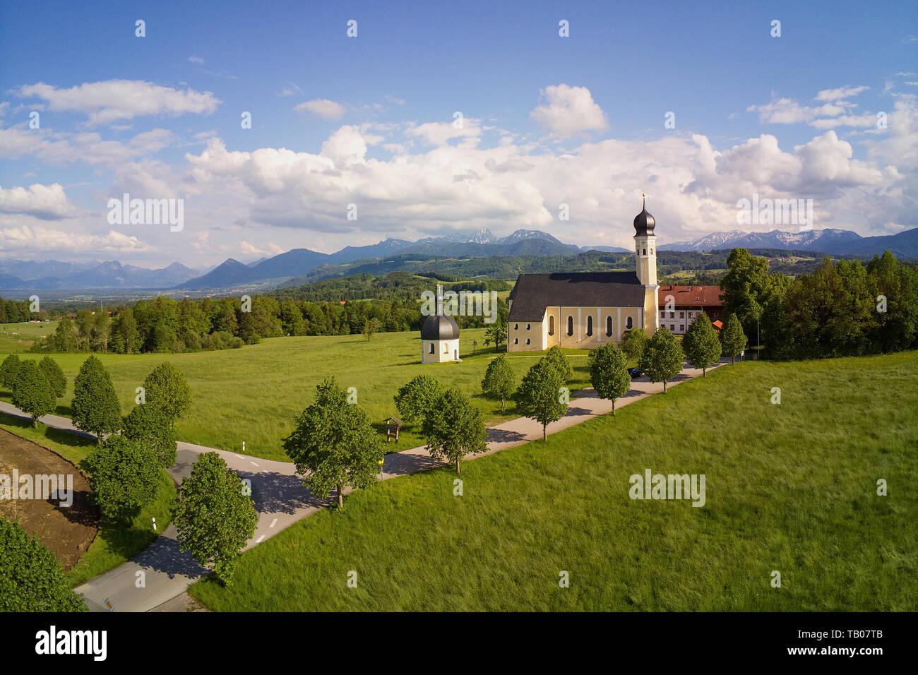 Pilgrimage Church Irschenberg Wilparting Stock Photo