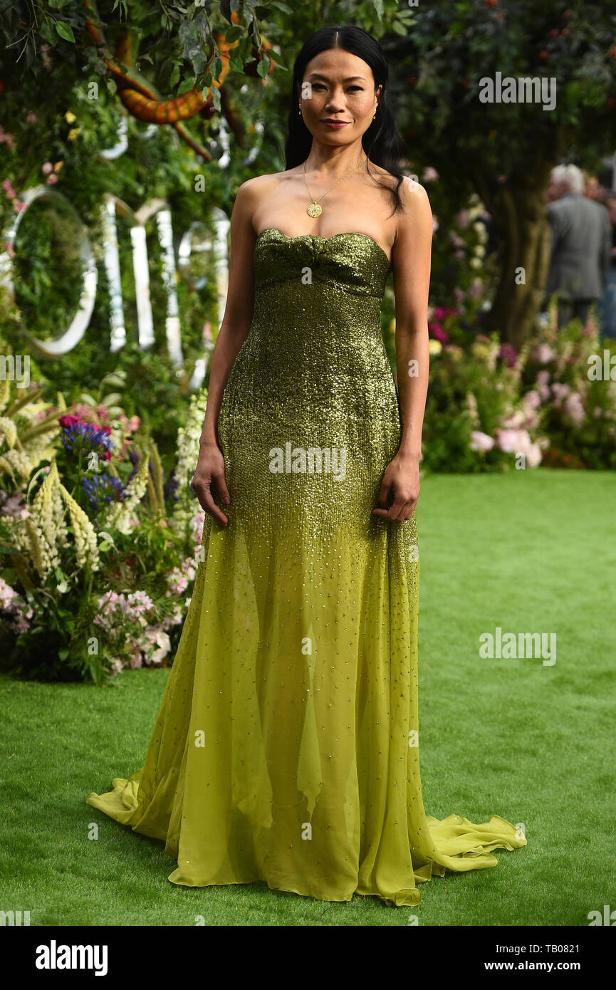 Lourdes Faberes attending the premiere of Good Omens at the Odeon Luxe Leicester Square, central London. - Stock Image