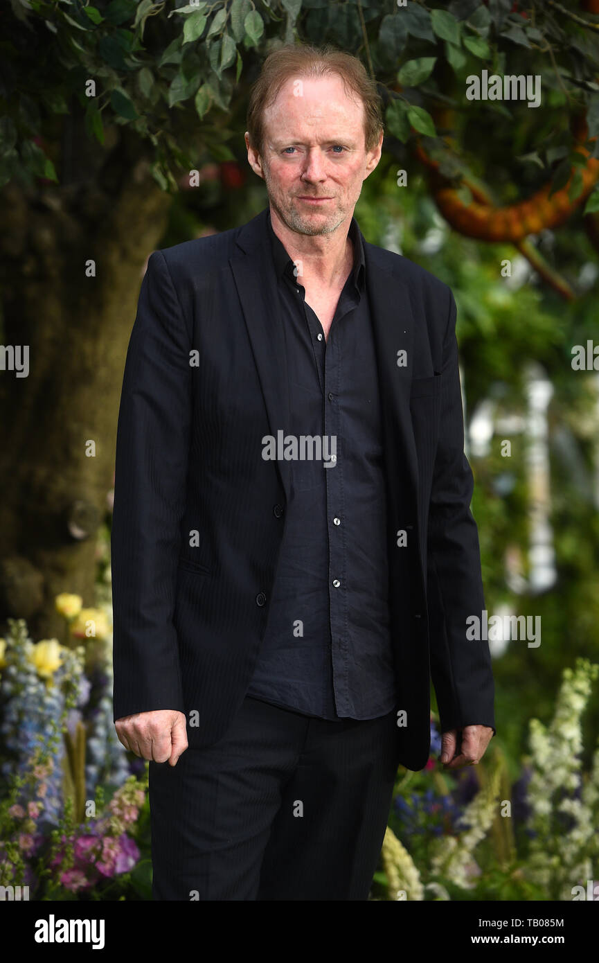 Ned Dennehy attending the premiere of Good Omens at the Odeon Luxe Leicester Square, central London. - Stock Image