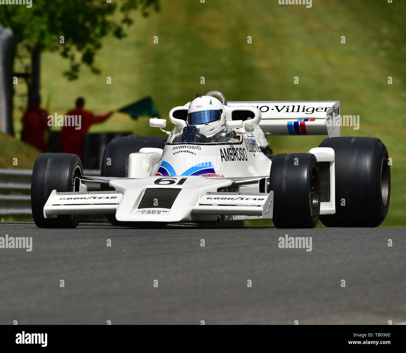 Jason Wright, Shadow DN8, FIA Masters Historic Formula One Championship, Masters Historic Festival, Brands Hatch, May 2019. Brands Hatch, classic cars - Stock Image