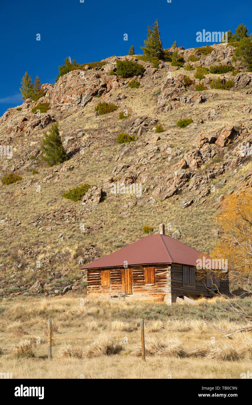 Rustic ranch building, Red Rock Lakes National Wildlife Refuge, Montana - Stock Image
