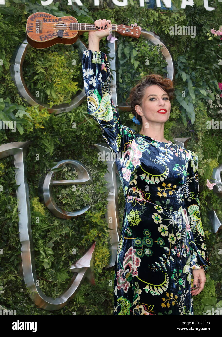 Amanda Palmer at the Global TV Premiere of Amazon Original Good Omens at Odeon Luxe Leicester Square - Stock Image