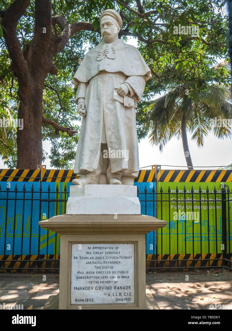 16-03-2019 -marble Statue of Mahadev Govind Ranade Bombay Mumbai