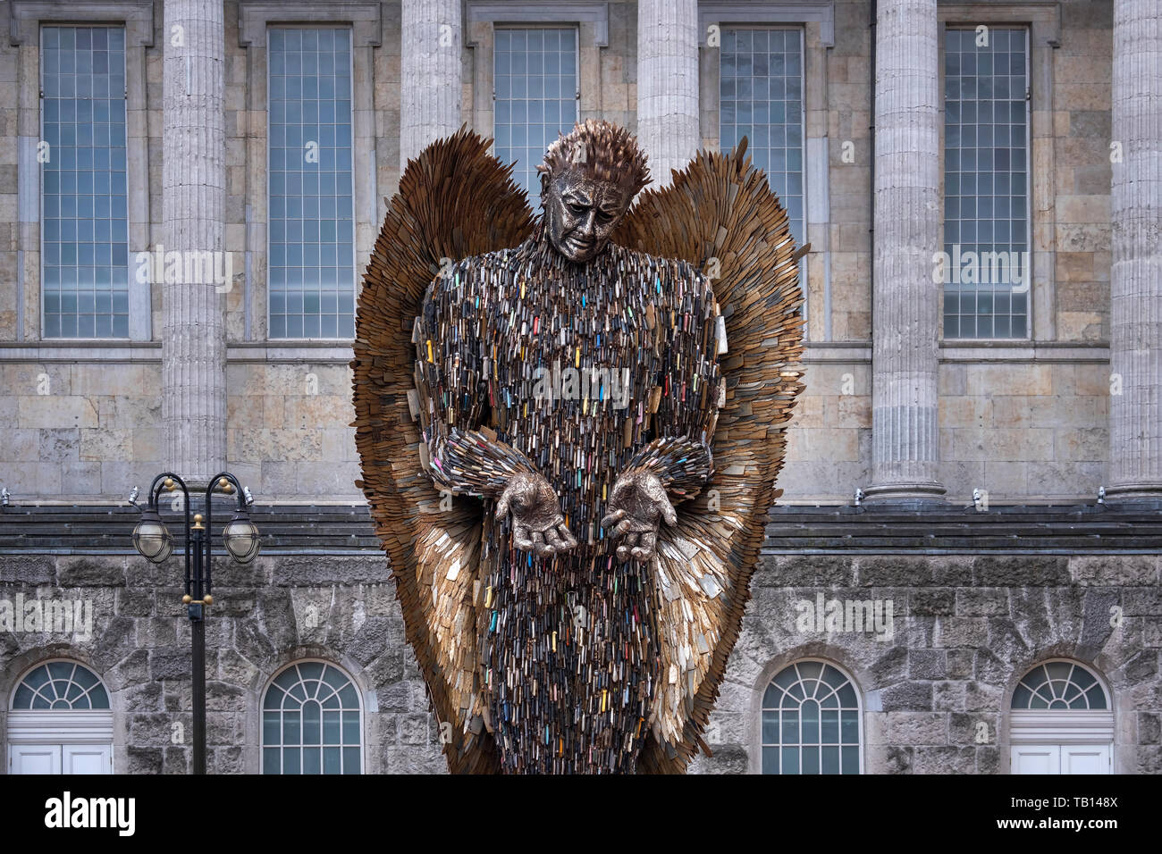 Knife Angel by Alfie Bradley, Birmingham City Centre, Birmingham, West Midlands, UK - Stock Image