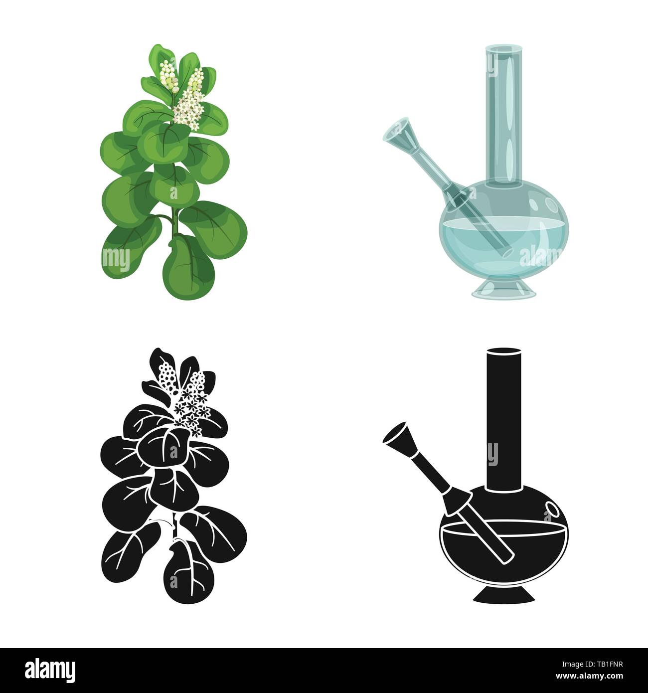 Vector design of refuse and stop icon. Collection of refuse and habit stock vector illustration. - Stock Vector