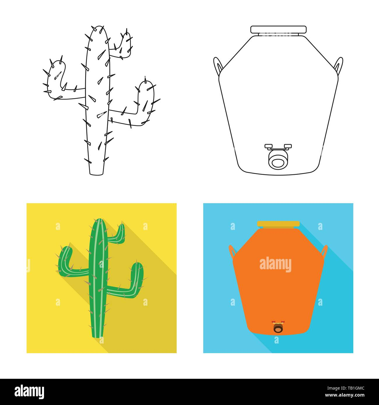 Vector design of cafe and Latin sign. Set of cafe and national vector icon for stock. - Stock Image