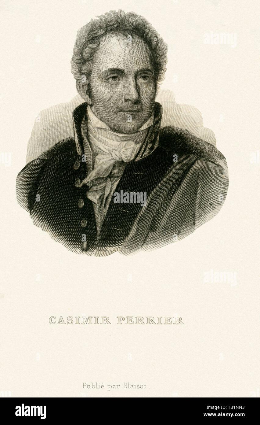 Europa, Frankreich, Paris, Casimir Perier, französischer Politiker, Kupferstich, herausgegeben von Blaisot, wahrscheinlich in den 1850er Jahren . / Eu - Stock Image