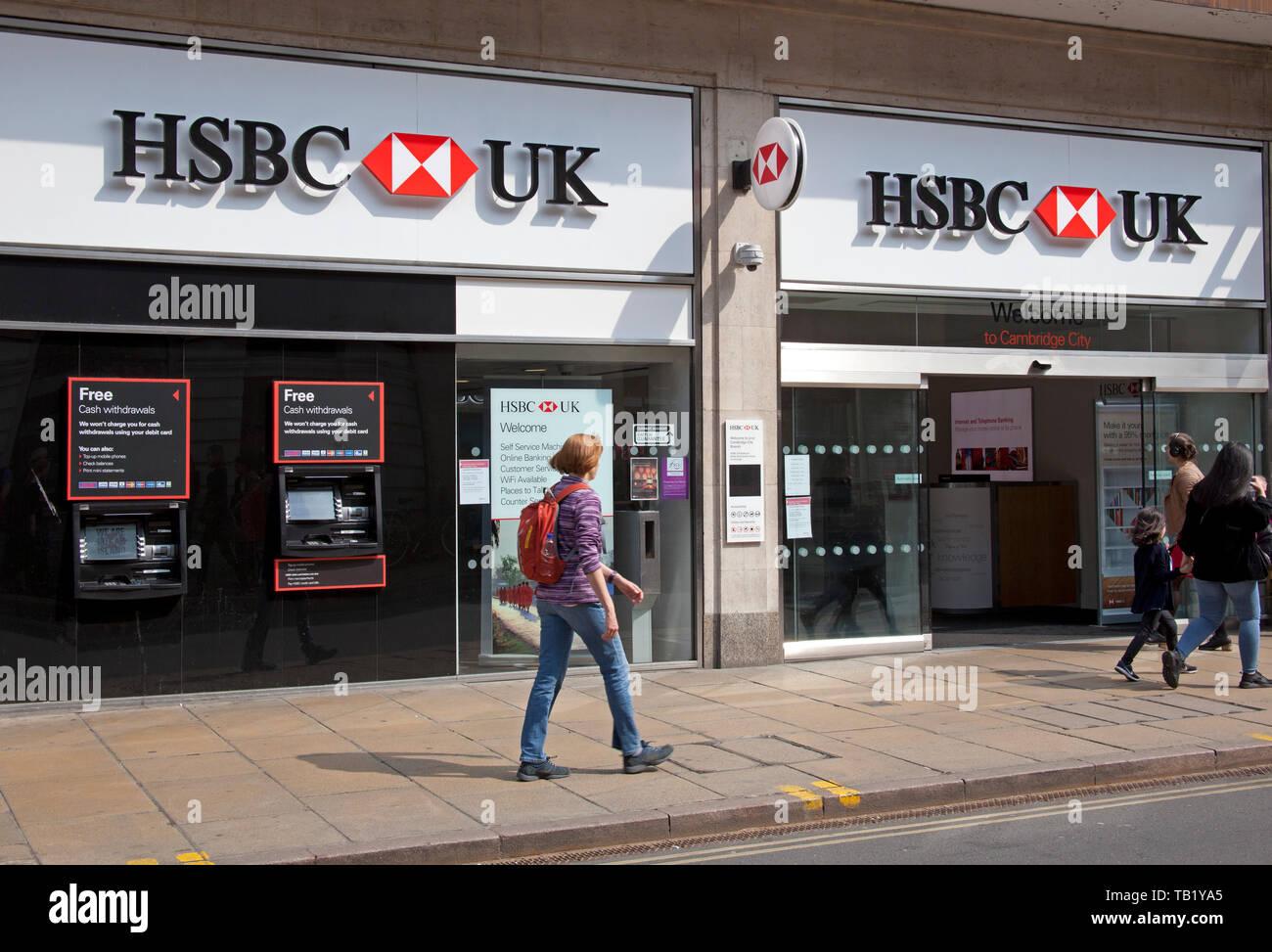 HSBC, Bank, Cambridge, England, UK, Europe Stock Photo: 247749773
