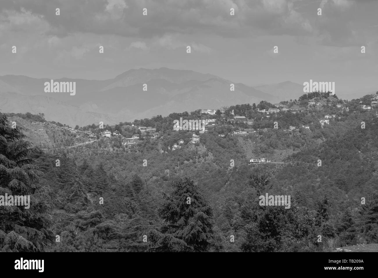 View of himalayan mountains from George Everest at mussoorie uttarakhand india - Stock Image