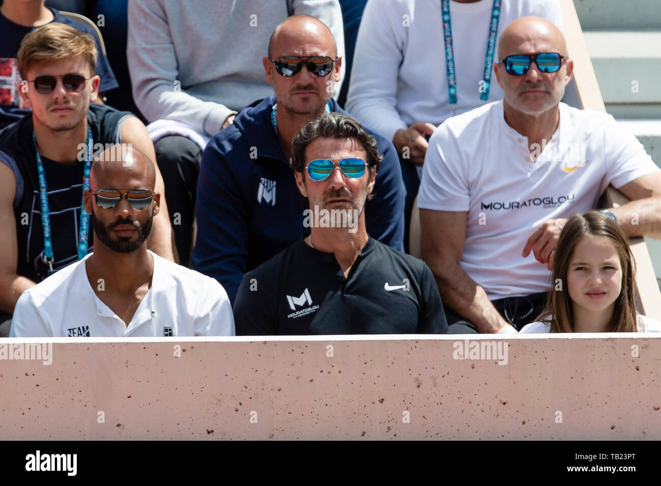 Paris France 29th May 2019 Patrick Mouratoglou Coach Of Stefanos Tsitsipas From Greece During The 2019
