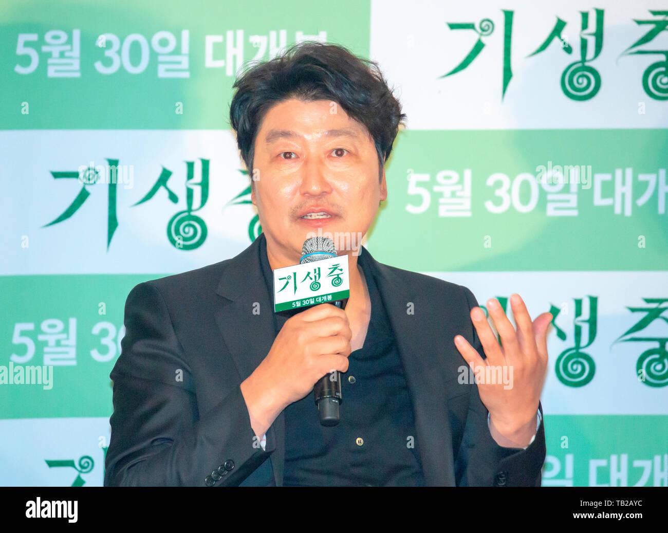 Song Kang-Ho, May 28, 2019 : South Korean actor Song Kang-Ho attends