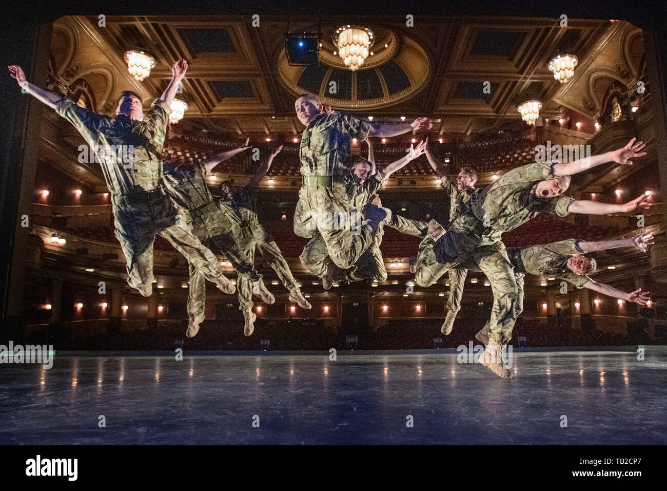 Edinburgh    May  30 2019; Scottish premiere of 10 SOLDIERS by Commonwealth Games Handover choreographer and Birmingham Hippodrome Associate Artist, Rosie Kay at the Festival Theatre.    credit steven scott taylor / alamy live news - Stock Image