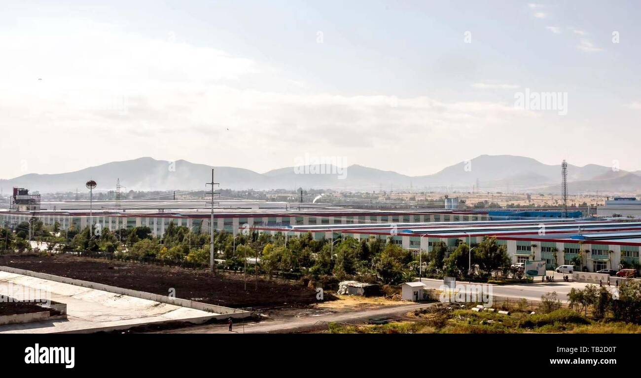 Beijing, China. 7th Dec, 2018. Photo taken on Dec. 7, 2018 shows the factories inside the Eastern Industrial Zone (EIZ) in the south of Addis Ababa, Ethiopia. Credit: Zhang Yu/Xinhua/Alamy Live News - Stock Image