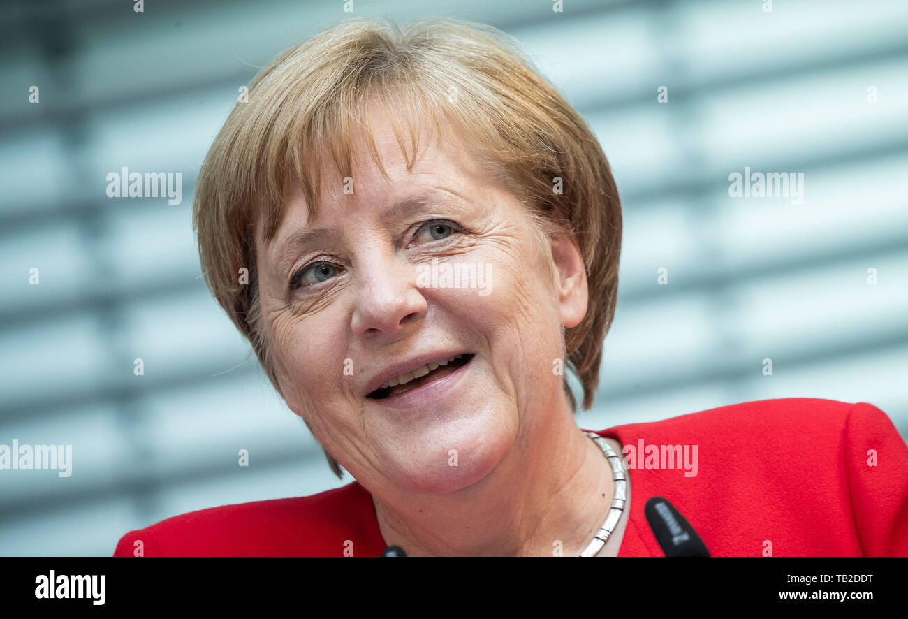 Berlin, Germany  21st May, 2019  Chancellor Angela Merkel (CDU