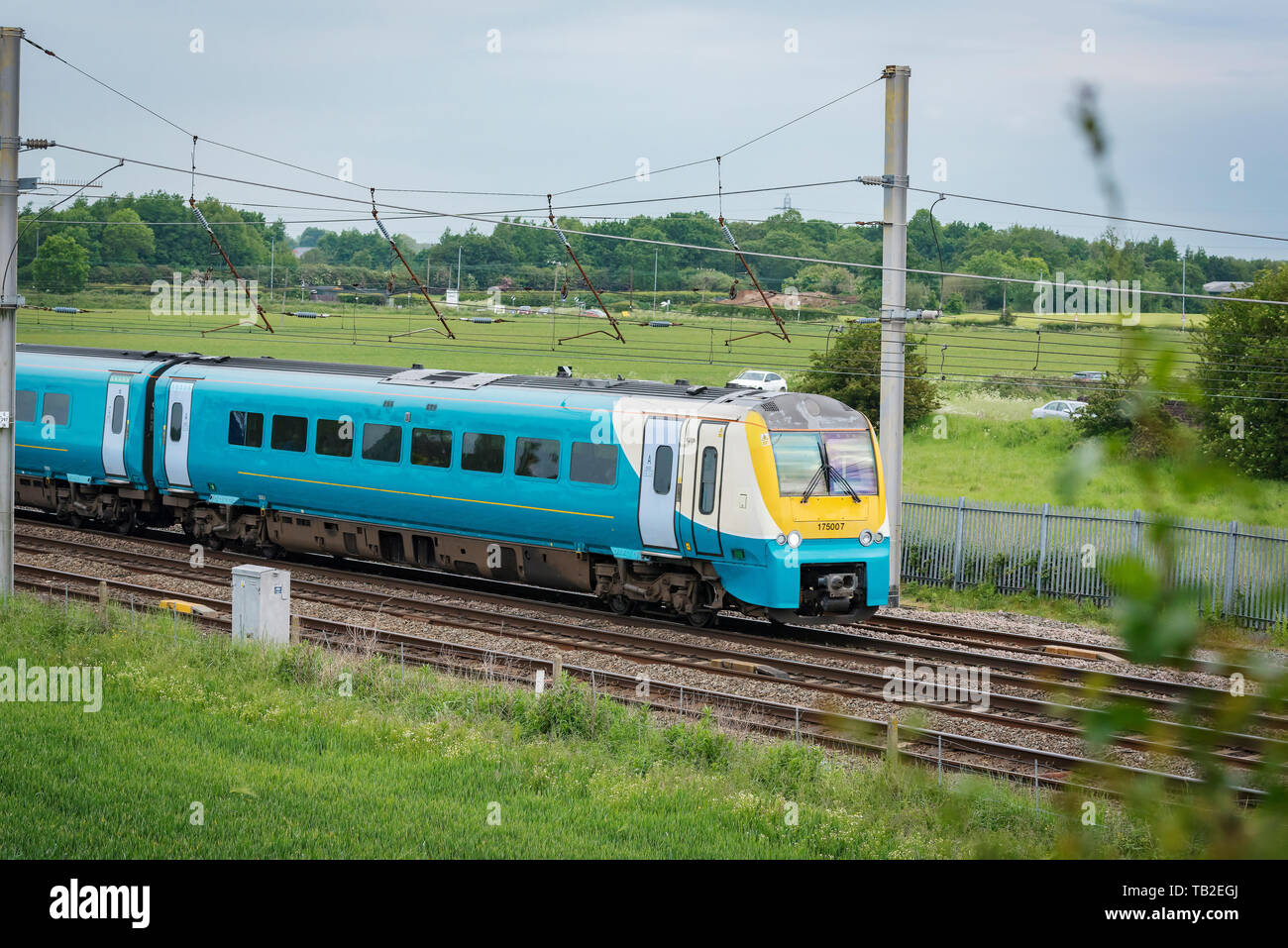 Class 175 Arriva DMU train at Winwick. - Stock Image