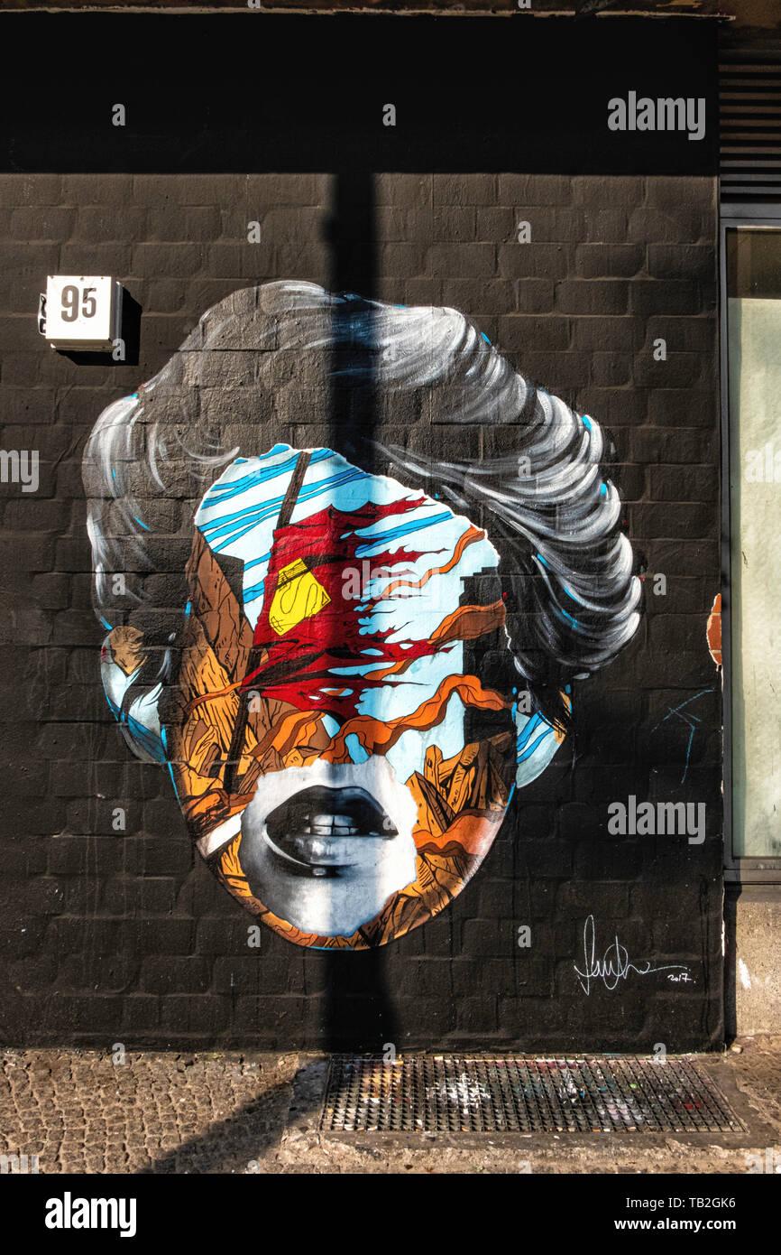 Street art  In Bulowstrasse, Schöneberg-Berlin Stock Photo