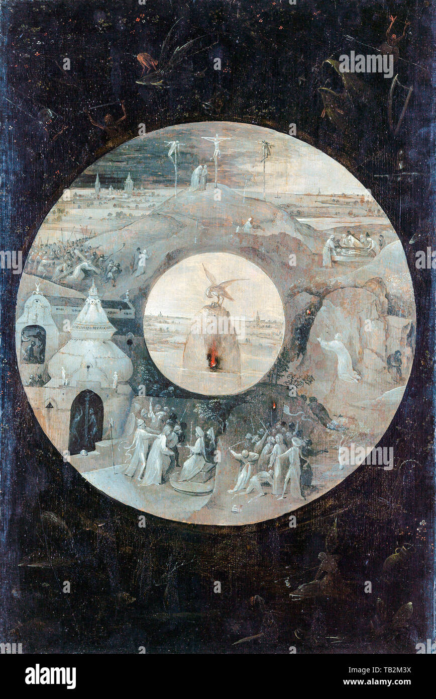 Hieronymus Bosch, Scenes from the Passion of Christ, painting, circa 1489 - Stock Image