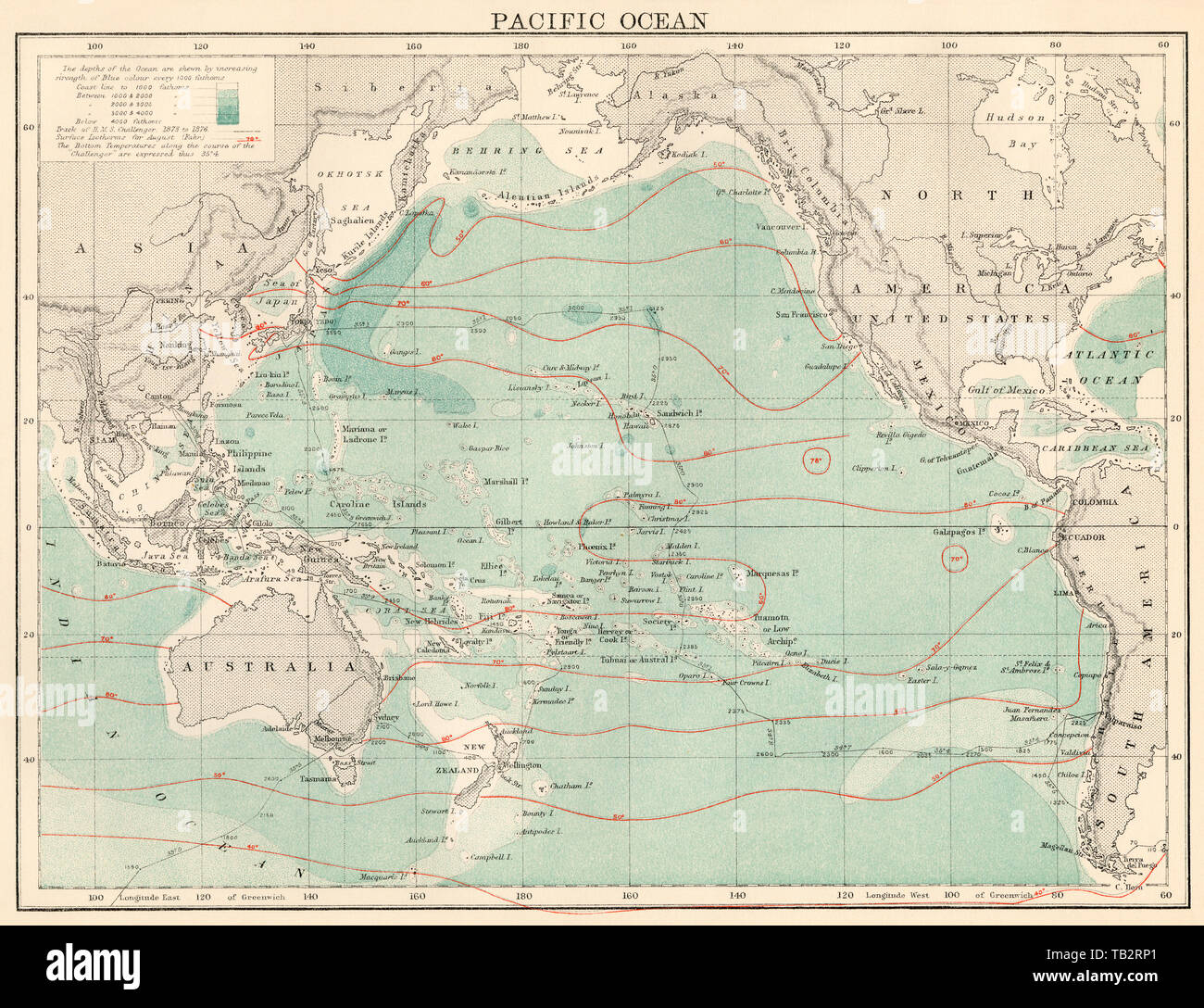 North Pacific Ocean Map High Resolution Stock Photography And Images Alamy