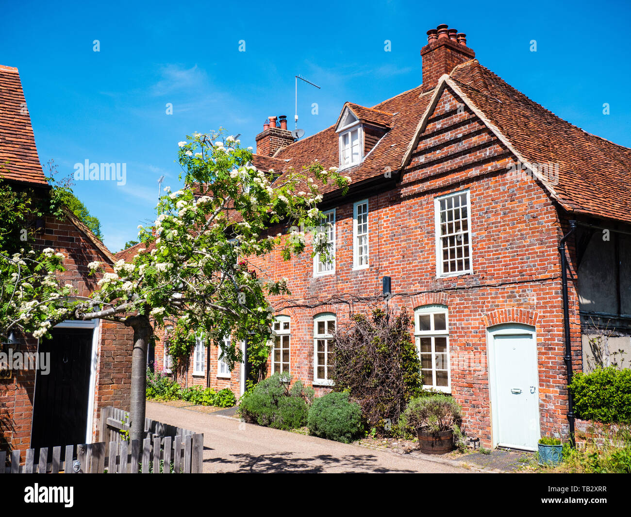 The Village of Hambleden, used as a location in Good Omens TV Show, Buckinghamshire, England, UK, GB. - Stock Image