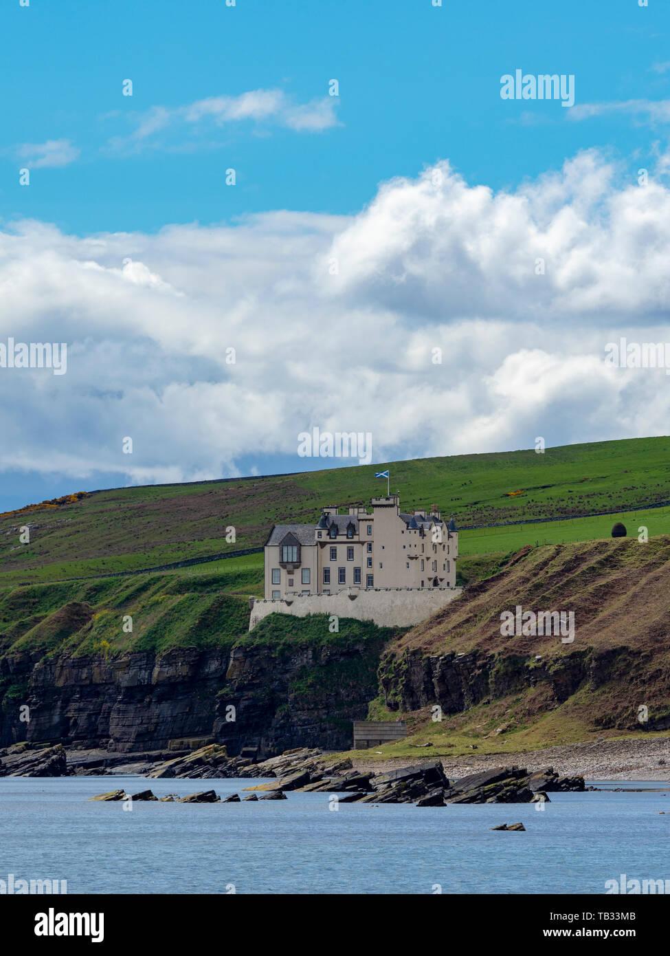 Dunbeath Castle, Caithness, Scotland. Stock Photo