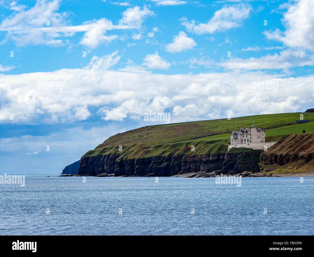 View of Dunbeath Castle, Caithness, Scotland, - Stock Image