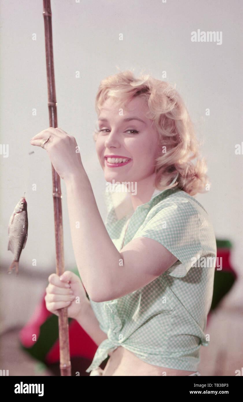 Susanne Cramer, deutsche Schauspielerin, Deutschland 1950er Jahre. German actress Susanne Cramer, Germany 1950s. - Stock Image