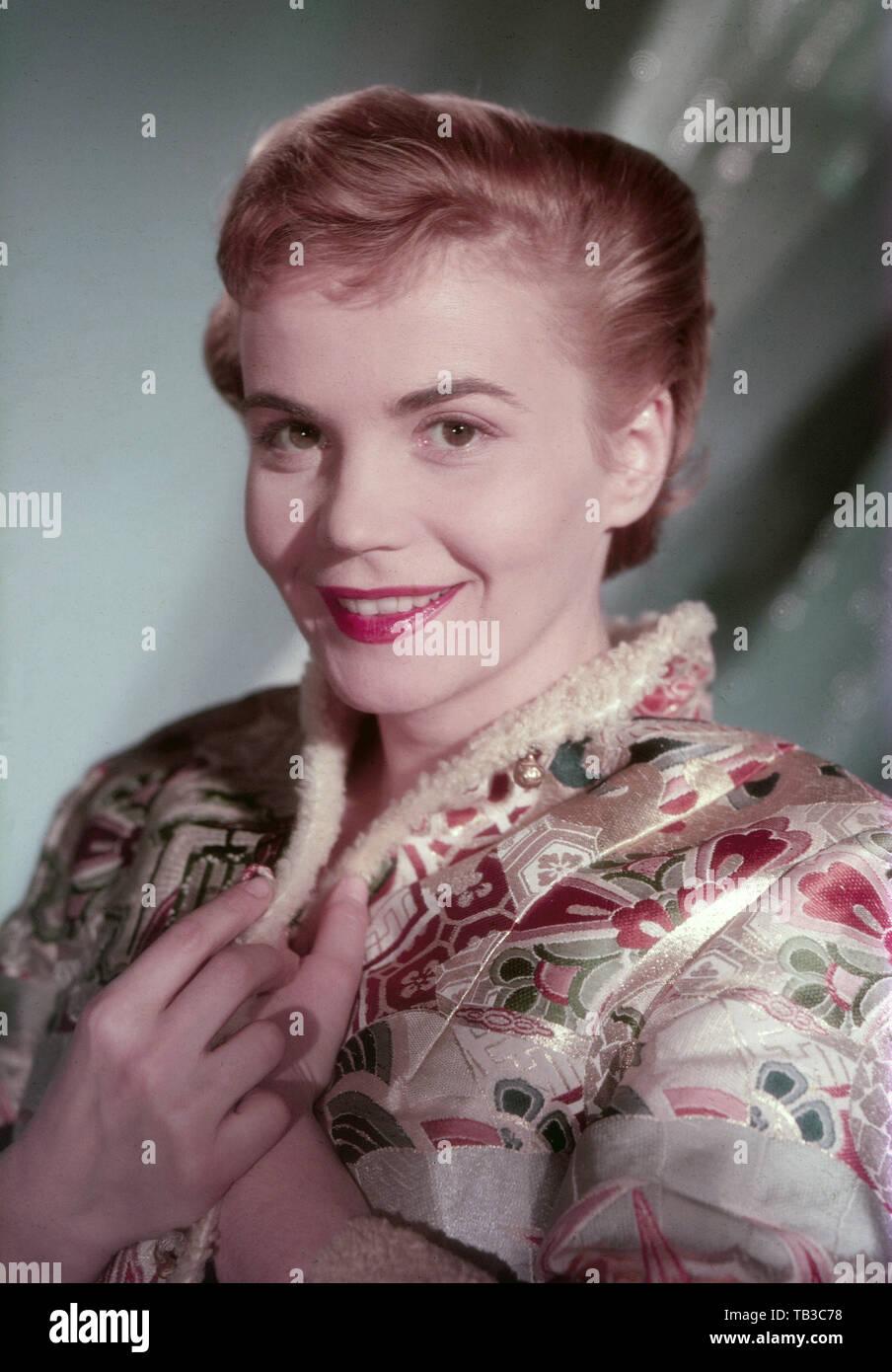 Annemarie Düringer, Schweizer Schauspielerin, Deutschland ca. 1956. Swiss actress Annemarie Dueringer, Germany ca. 1956. - Stock Image