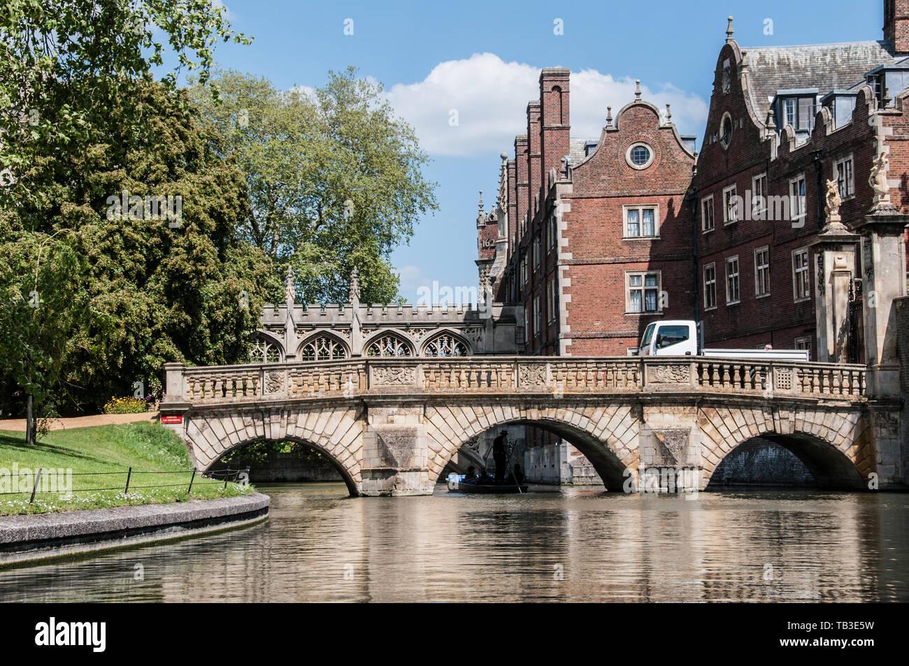 Kitchen Bridge, over the River Cam, Cambridge, UK - Stock Image