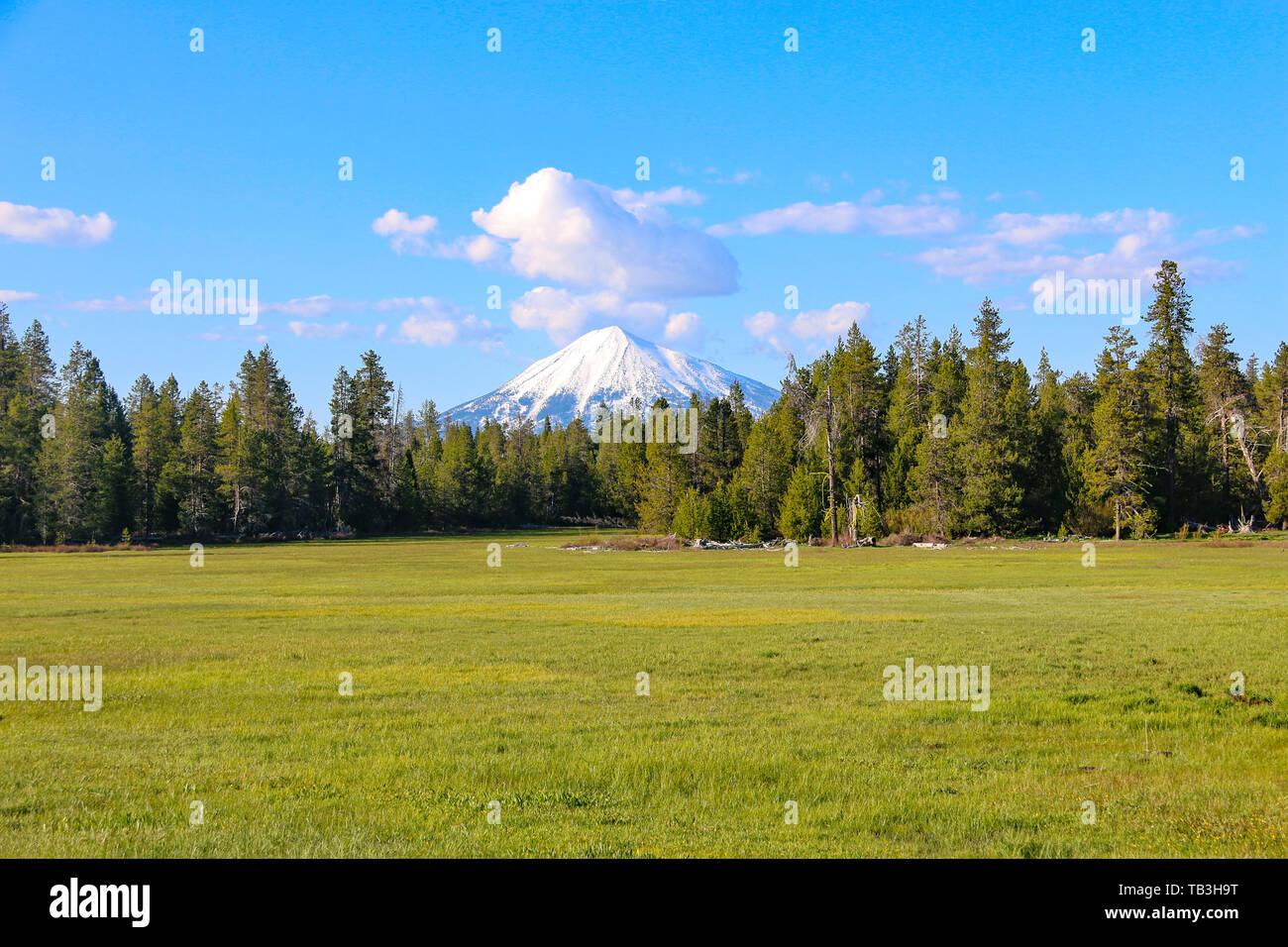 Mount McLoughlin, Oregon, USA - Stock Image