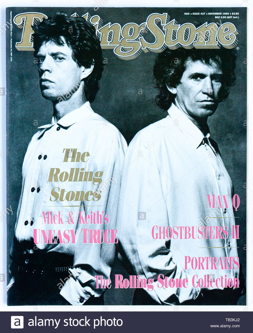 The cover of Rolling Stone magazine, issue 437, featuring Mick Jagger and Keith Richards - Stock Image