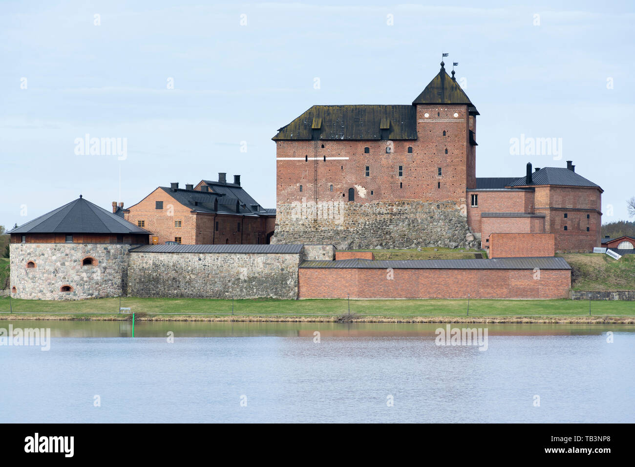 Hame castle by the Vanajavesi lake in Hämeenlinna Finland Stock Photo