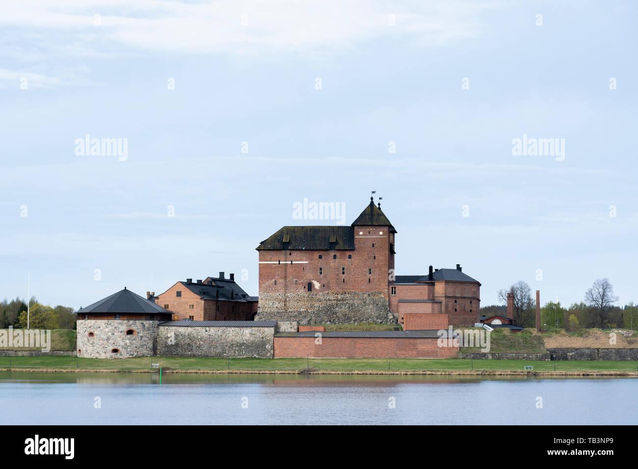 Hame castle by the Vanajavesi lake in Hämeenlinna Finland Stock Photo