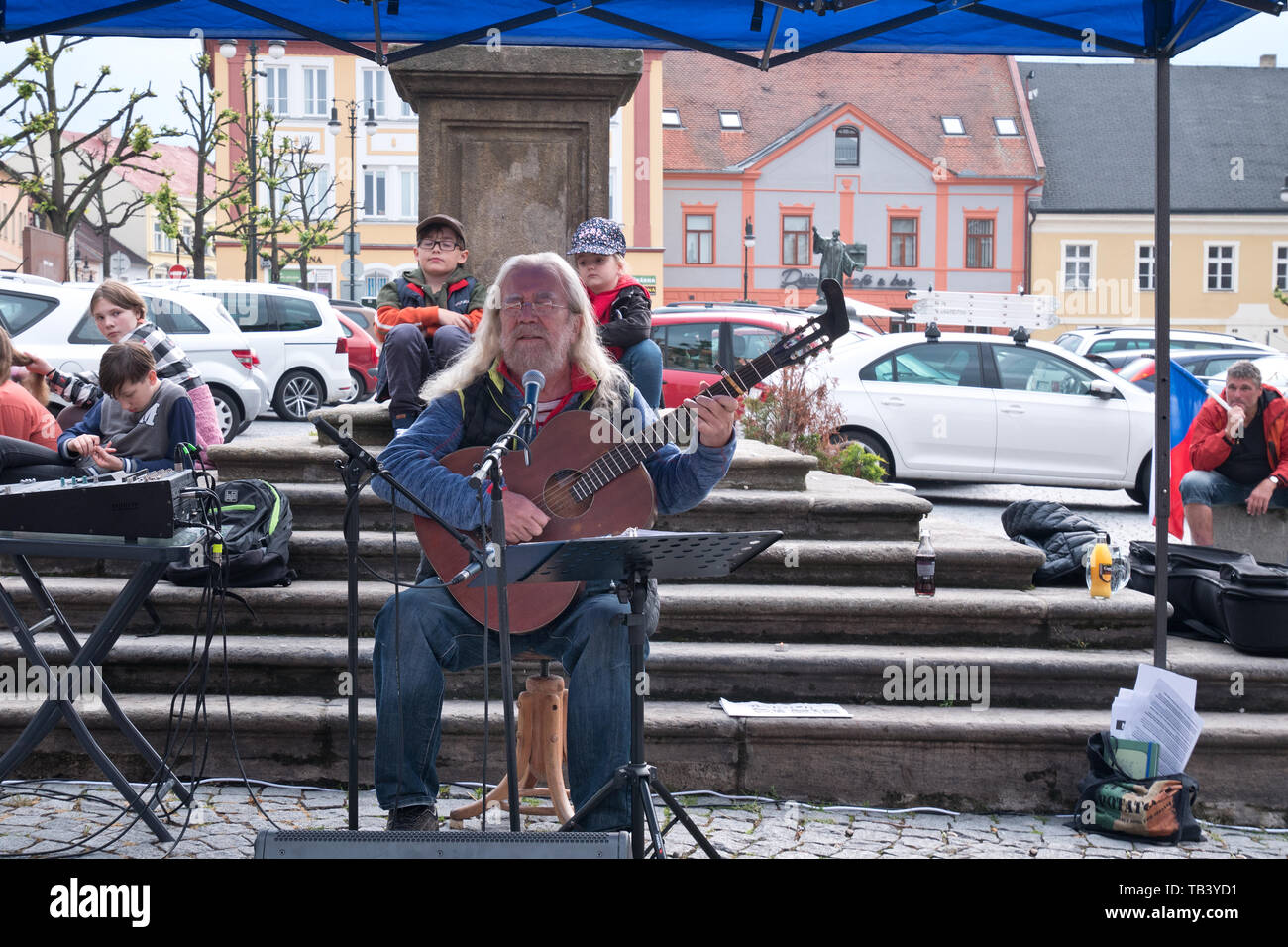 LOUNY, CZECH REPUBLIC - MAY 28, 2019: 'Mame toho dost'  Protest against the Prime Minister Andrej Babis and Minister of Justice Marie Benesova. - Stock Image