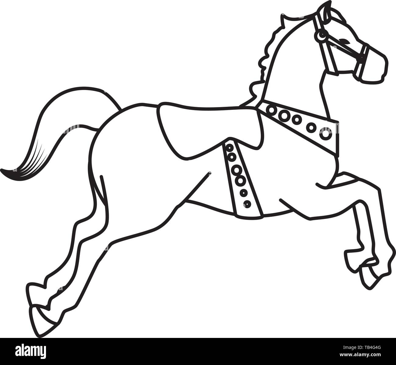 Carousel Horse Black And White Stock Photos Images Alamy