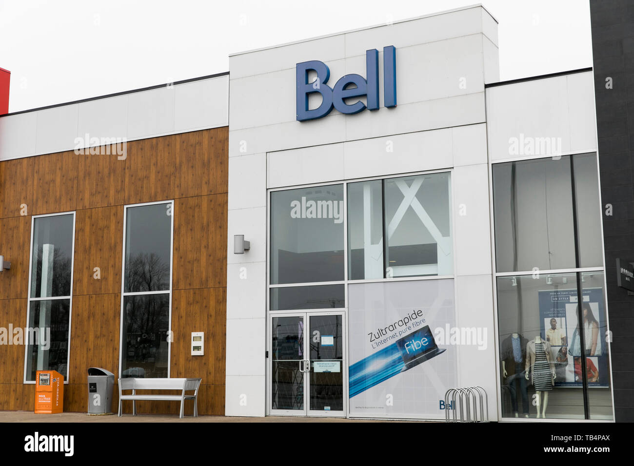 A logo sign outside of a Bell Canada retail store location