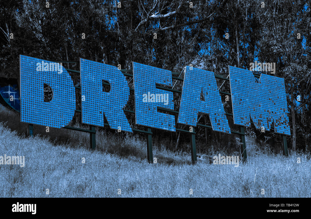 the word dream mean everything about life and goals money family health beginning ending starting business music writing dream is what we want . - Stock Image