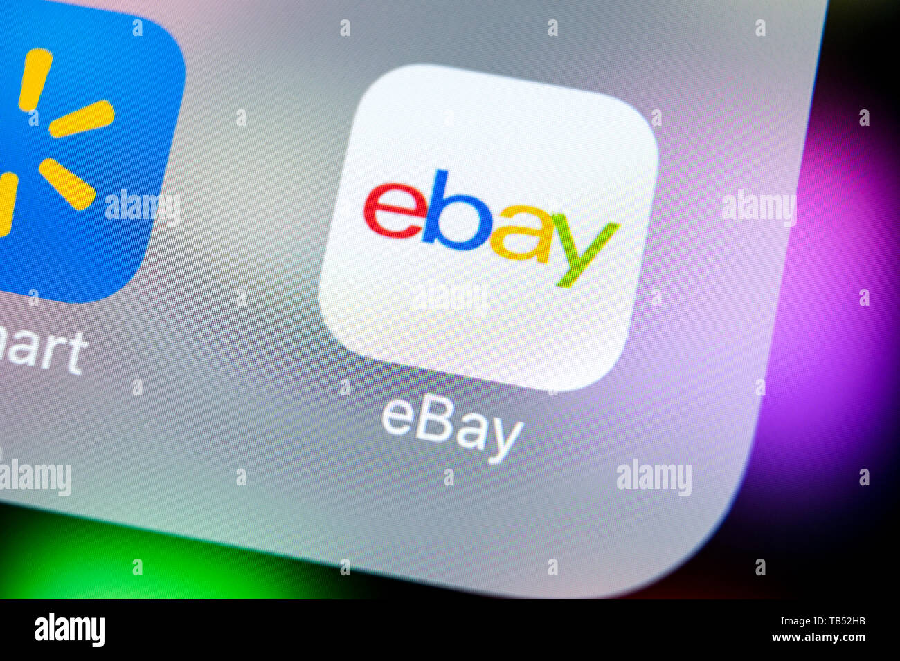 Sankt Petersburg Russia March 21 2018 Ebay Application Icon On Apple Iphone X Screen Close Up Ebay App Icon Ebay Com Is Largest Online Auction A Stock Photo Alamy