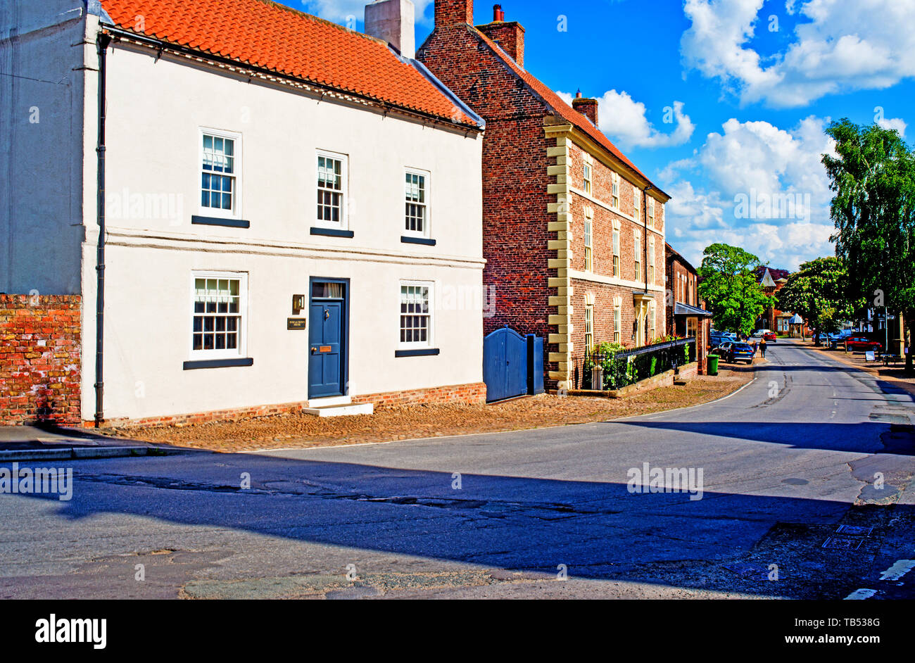 Period Houses, Helperby, North Yorkshire, England Stock Photo